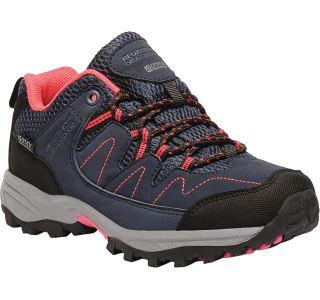 Dětské boty Regatta HOLCOMBE Low tmavě modrá/růžová