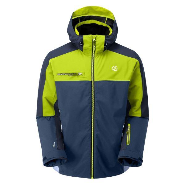 Pánská zimní bunda Dare2b INTERMIT II modrá/limetková