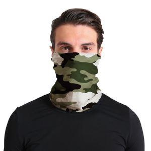 Unisex multifunkční šátek/nákrčník maskáč S45