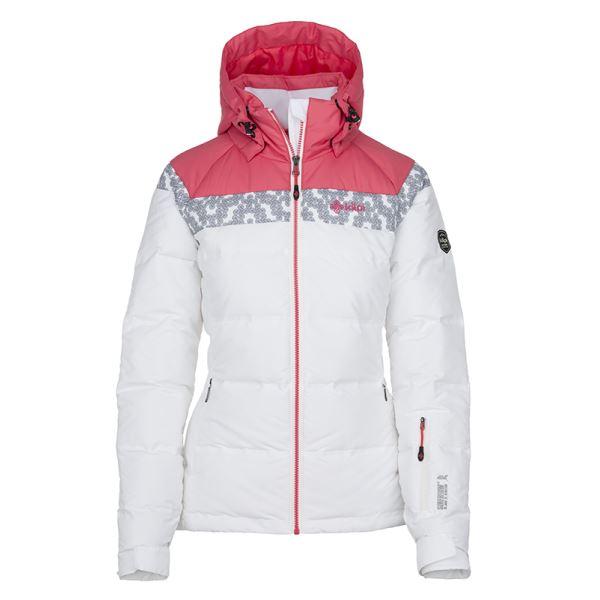 Dámská zimní péřová bunda KILPI SYNTHIA-W bílá