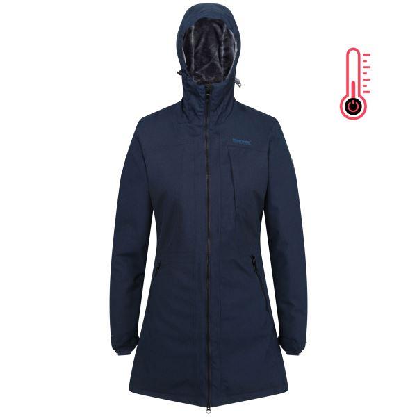 Dámský vyhřívaný zimní kabát Regatta VOLTERA II tmavě modrá