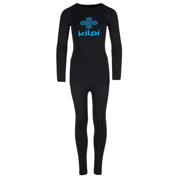 Dětské termoprádlo KILPI NATHANIEL-JB černá (kolekce 2019)