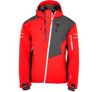 Pánská zimní lyžařská bunda KILPI ASIMETRIX-M červená (nadměrná velikost)