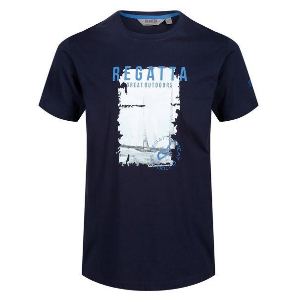 0d02f0f46448 Pánské tričko Regatta CLINE II tmavě modrá