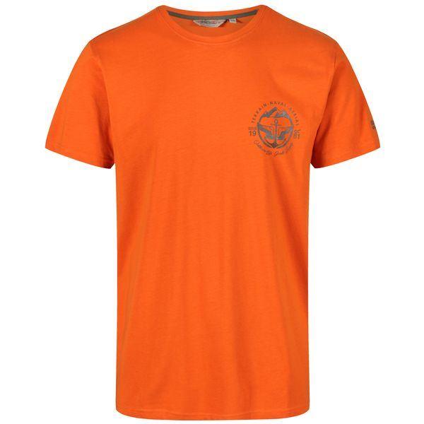 Pánské tričko Regatta CLINE III oranžová