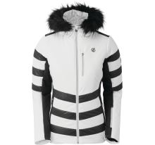 Dámská zimní bunda Dare2b SNOWGLOW bílá/černá