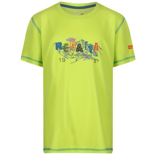 Dětské funkční tričko Regatta ALVARADO IV limetkově žlutá