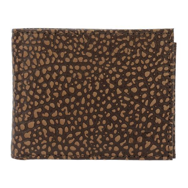 Pánská kožená peněženka WFY 444 hnědá vzor