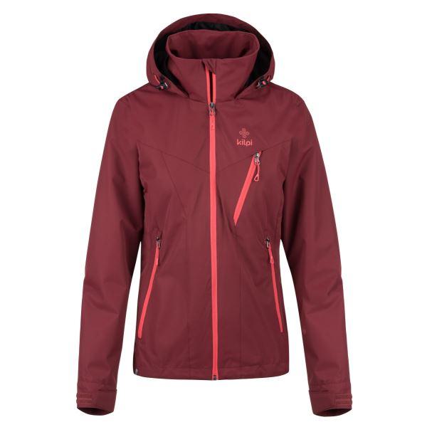 Dámská bunda KILPI ORTLER-W tmavě červená