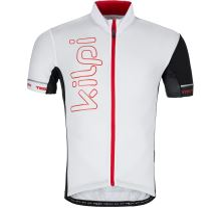 Pánský cyklistický dres KILPI ELYON-M bílá
