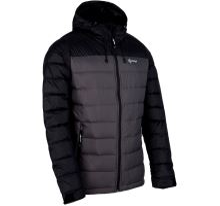 Pánská lehká péřová bunda Kilpi SVALBARD-M tmavě šedá