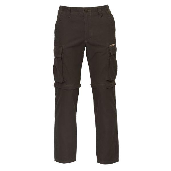 Pánské kalhoty BUSHMAN KALHOTY LINCOLN-ZIP OFF tmavě hnědá