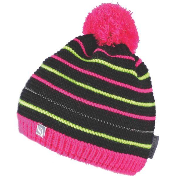 Dětská zimní čepice CAPU 660 černá/růžová