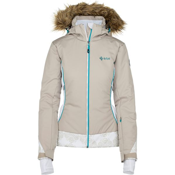Dámská zimní bunda KILPI VERA-W béžová