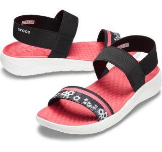Dámské boty Crocs LiteRide Hyper Floral Sandal W černá/bílá