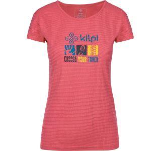 Dámské tričko KILPI GIACINTO-W růžová (nadměrná velikost)