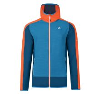 Pánská softshellová bunda Dare2b APPERTAIN II modrá/oranžová
