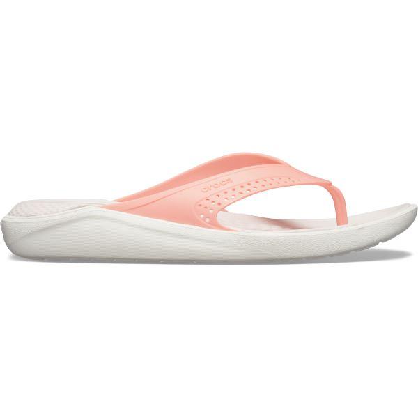 Dámské žabky Crocs LiteRide Flip melounově růžová/bílá