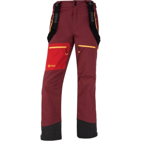 Dámské třívrstvé kalhoty KILPI KEKU-W tmavě červená