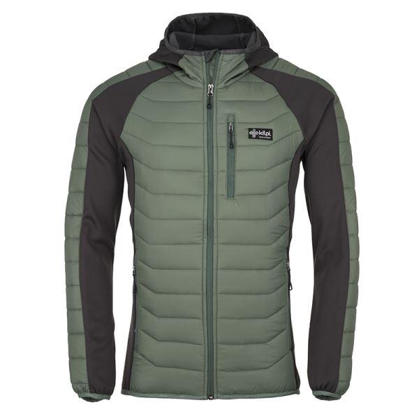 Pánská zimní prošívaná bunda KILPI ADISA-M khaki