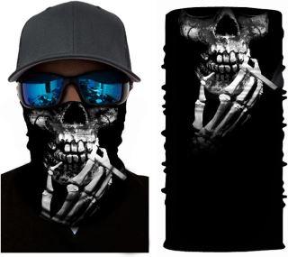 Unisex multifunkční šátek/nákrčník lebka S31