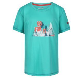 Dětské funčkní tričko Regatta ALVARADO IV světle tyrkysová