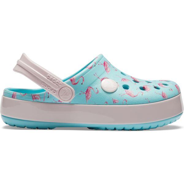 Dětské boty Crocs Crocband MultiGraphic Clog ledově modrá