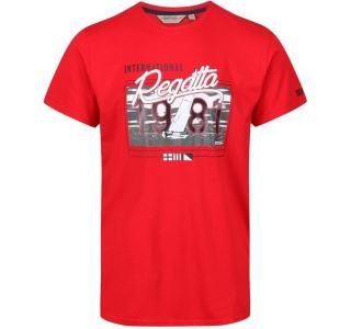 Pánské tričko Regatta CLINE III červená