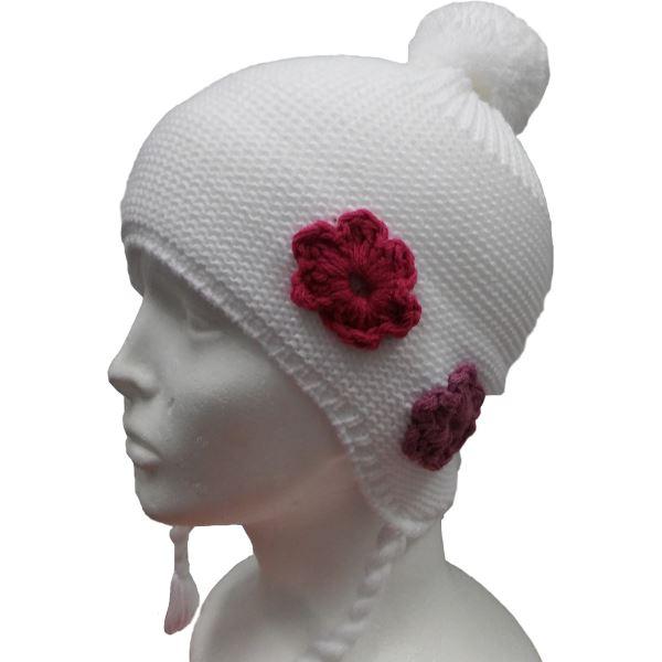 Dětská zimní čepice CAPU 4465 bílá