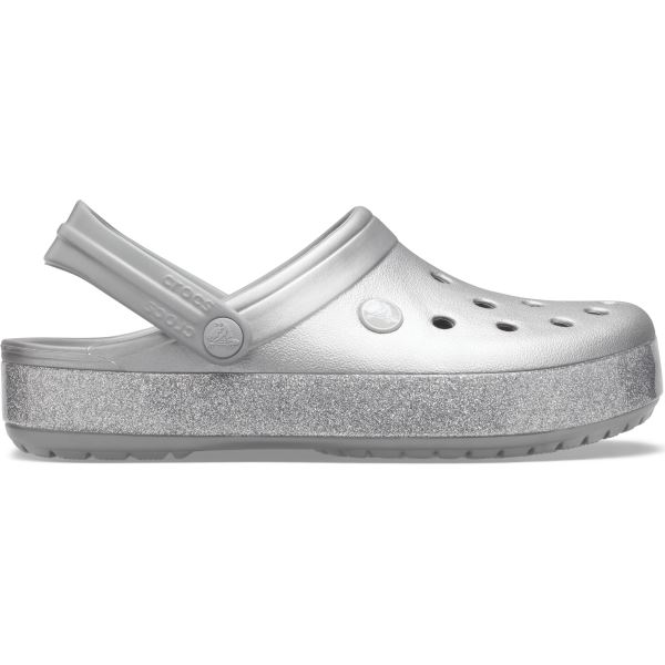 Dámské boty Crocs CROCBAND Printed Clog stříbrná