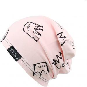 Dětská bavlněná čepice IceDress QUEEN II světle růžová