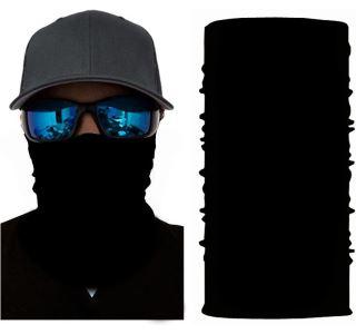 Unisex multifunkční šátek/nákrčník černá S58
