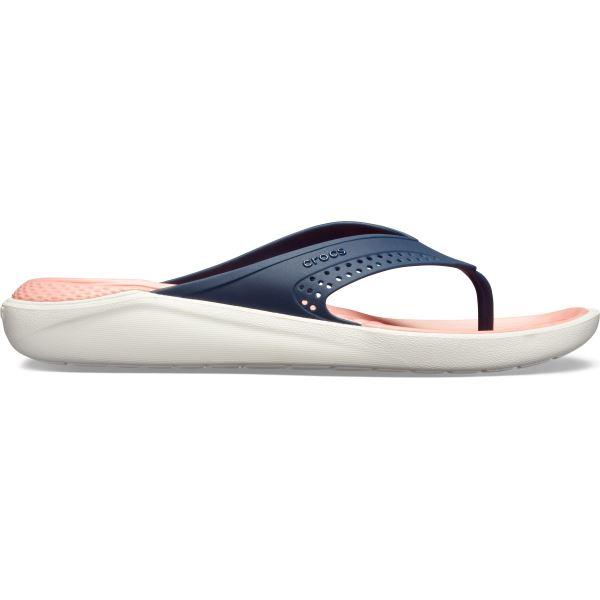 Dámské žabky Crocs LiteRide Flip tmavě modrá/melounově růžová