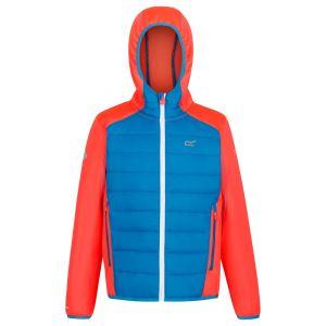 Dětská bunda Regatta KIELDER HYBRID IV oranžová/modrá