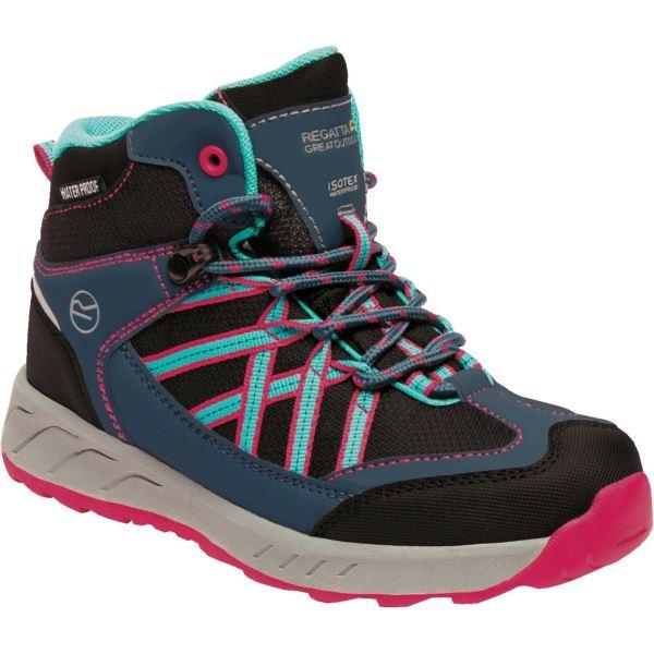 Dětské boty Regatta SAMARIS Jnr modrá/růžová