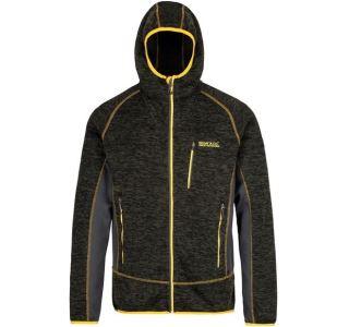 Pánská fleecová mikina Regatta CARTERSVILLE V tmavá šedá/žlutá