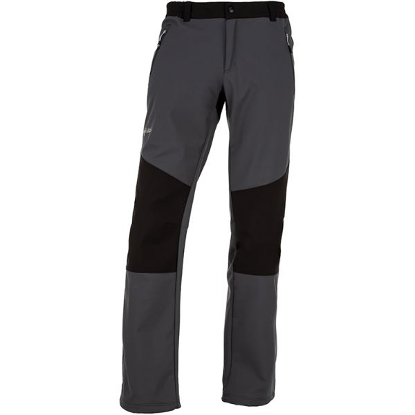 Pánské softshellové kalhoty KILPI MANILOU-M tmavě šedá (kolekce 2019)