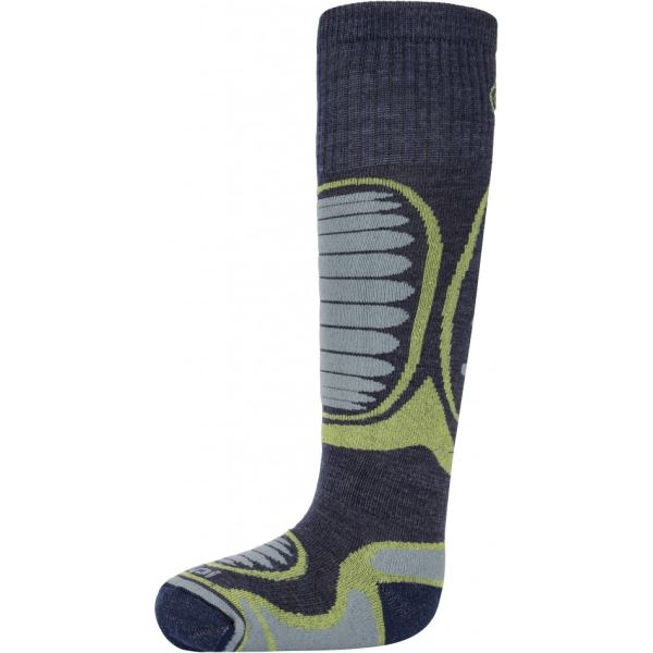 Dětské lyžařské ponožky KILPI ANXO-J světle zelená (kolekce 2018)