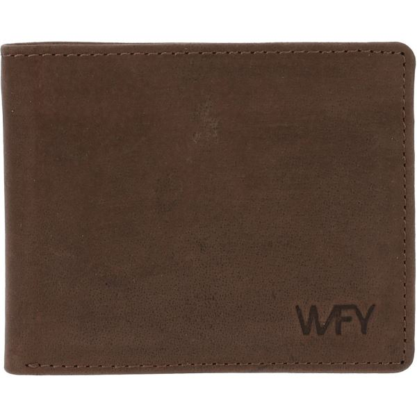 Pánská kožená peněženka WFY 330 tmavě hnědá