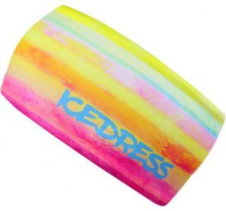 Univerzální funkční čelenka IceDress RAINBOW žlutá/růžová