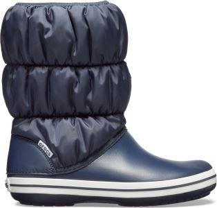 Dámské zimní boty Crocs WINTER PUFF Boot tmavě modrá/bílá