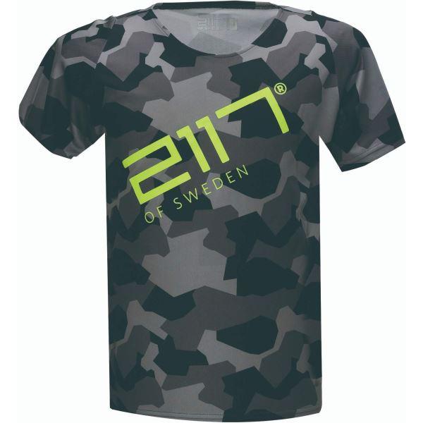 Pánské tričko MTB 2117 KISA černá/zelená