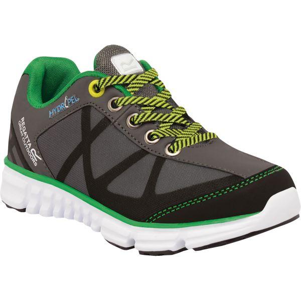 Dětské boty Regatta HYPER-TRAIL Low šedá/zelená
