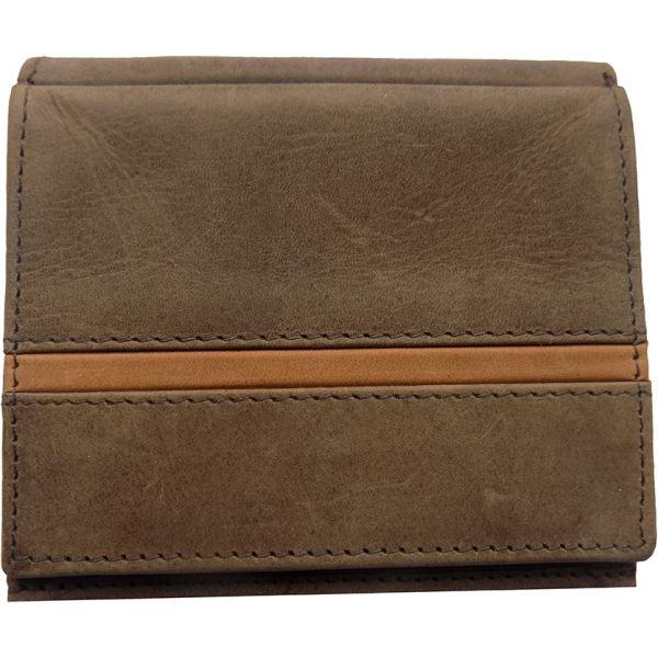 Pánská kožená peněženka WFY 346 tmavě hnědá