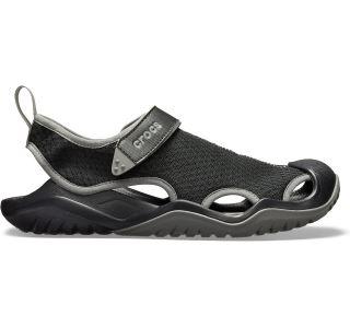 Pánské boty Crocs Swiftwater Mesh Deck Sandal černá