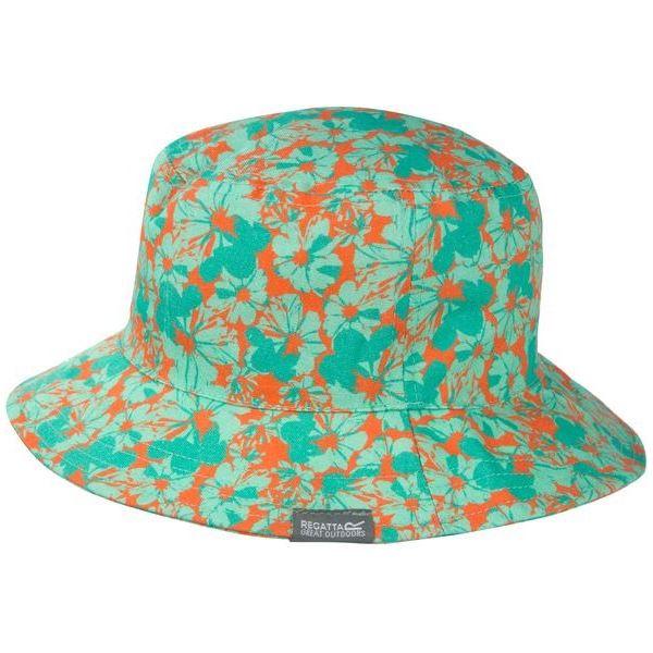 Dětský letní klobouk Regatta CRUZE tyrkysová/oranžová