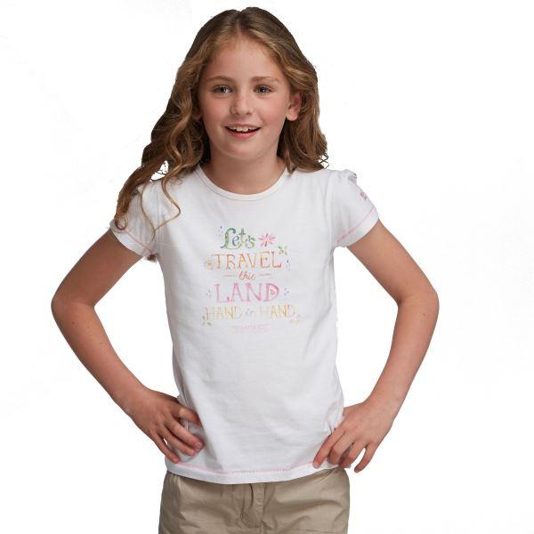 Dívčí triko Regatta BUGLE bílá