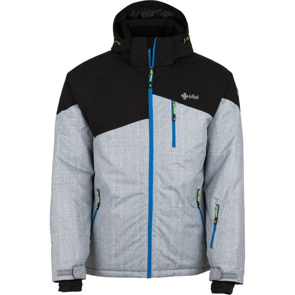 Pánská lyžařská bunda KILPI OLIVER-M světle šedá/modrá