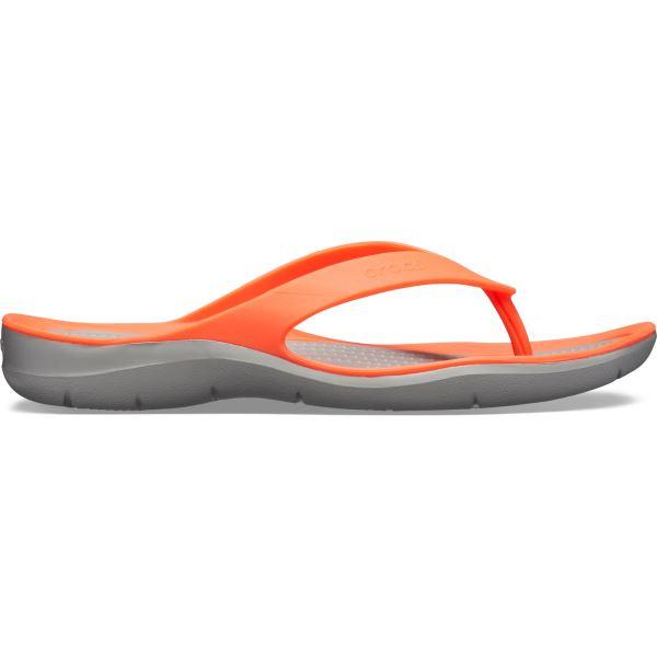 Dámské žabky Crocs SWIFTWATER  oranžová/šedá