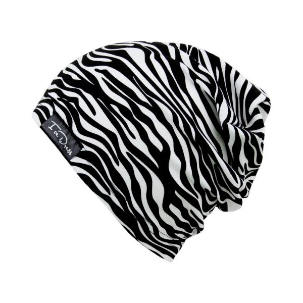 Dětská bavlněná čepice IceDress ZEBRA bílá/černá